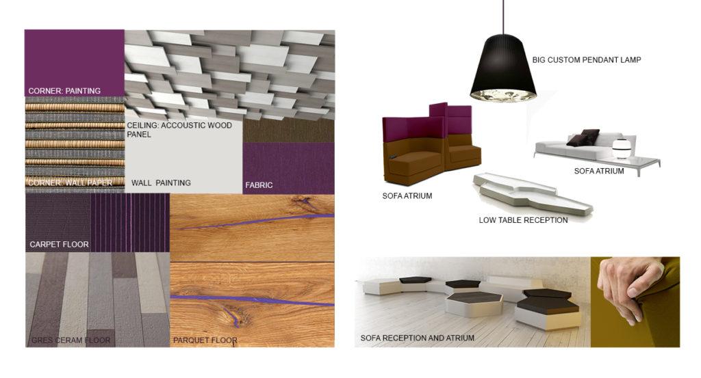 Agence design & visions planche tendance accueil et atrium hôtel novotel sheremetyevo